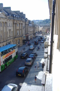 View from our office to Milsom Street